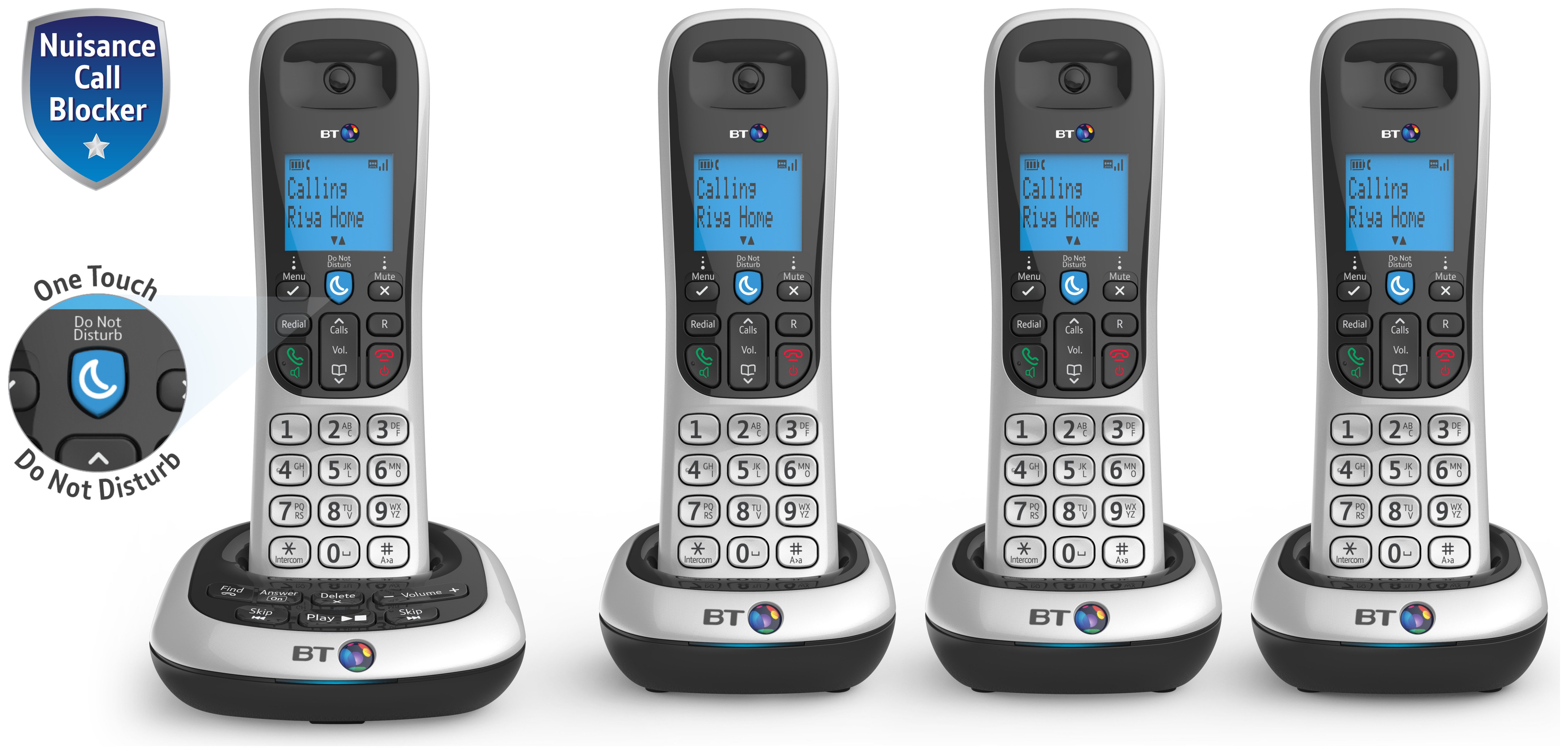 Image of BT 2700 Cordless Telephone with Answer Machine - Quad