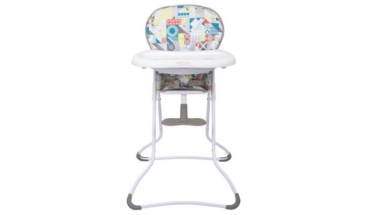 Graco Snack N Stow Highchair - Patchwork