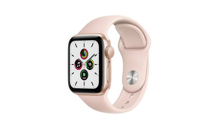 Apple Watch SE GPS 40mm Gold Alu Case with Pink Sand S Band