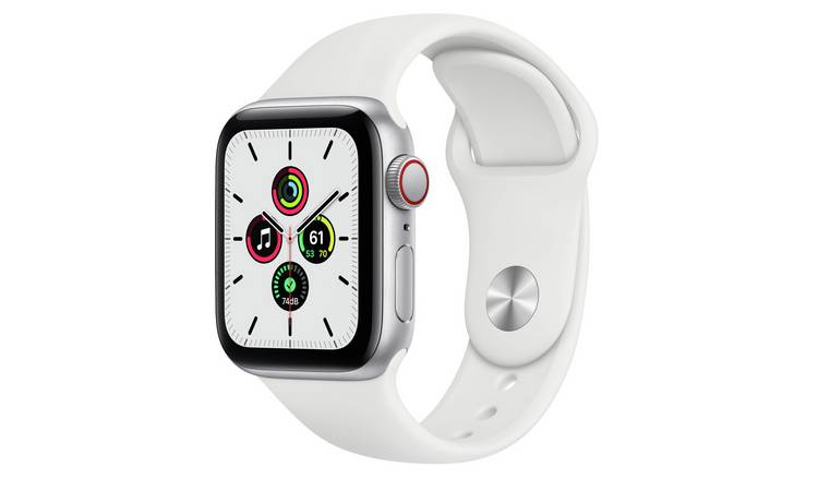 Apple Watch SE Cellular 40mm Silver Alu Case/White S Band