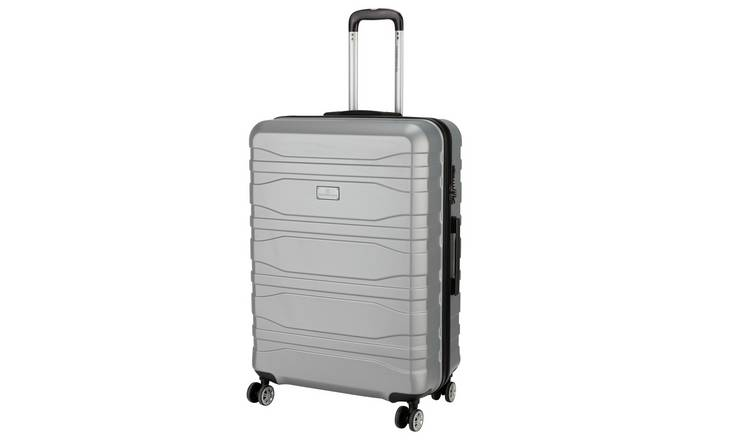Featherstone 8 Wheel Hard Large Suitcase - Silver