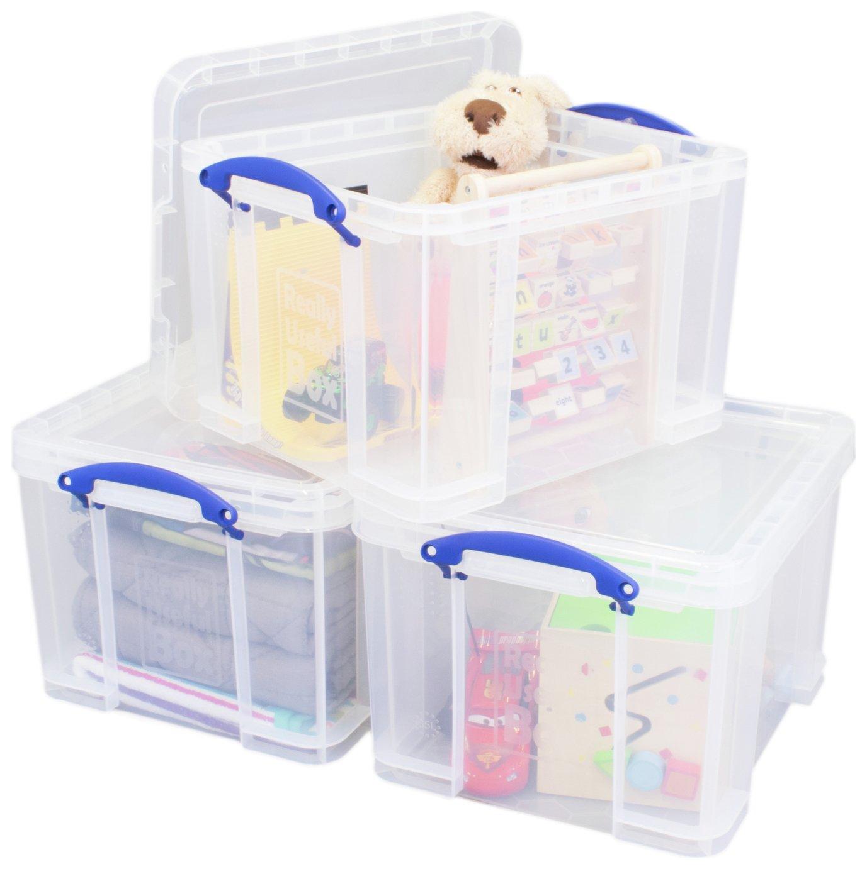 Really Useful 35 Litre Plastic Storage Box - Set of 3