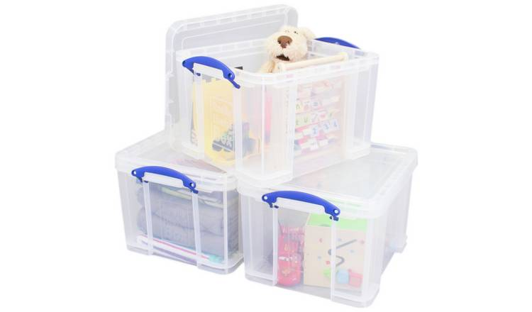 Really Useful 35 Litre Plastic Storage Box - Set of 3