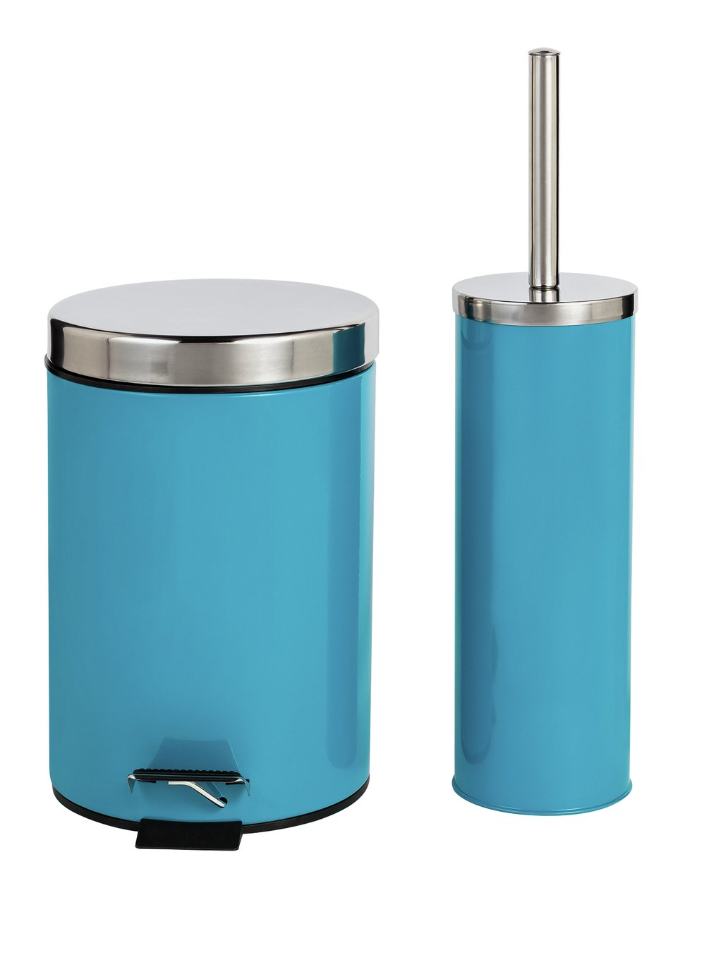 Colourmatch slow close bin and toilet brush set teal for Teal bathroom bin