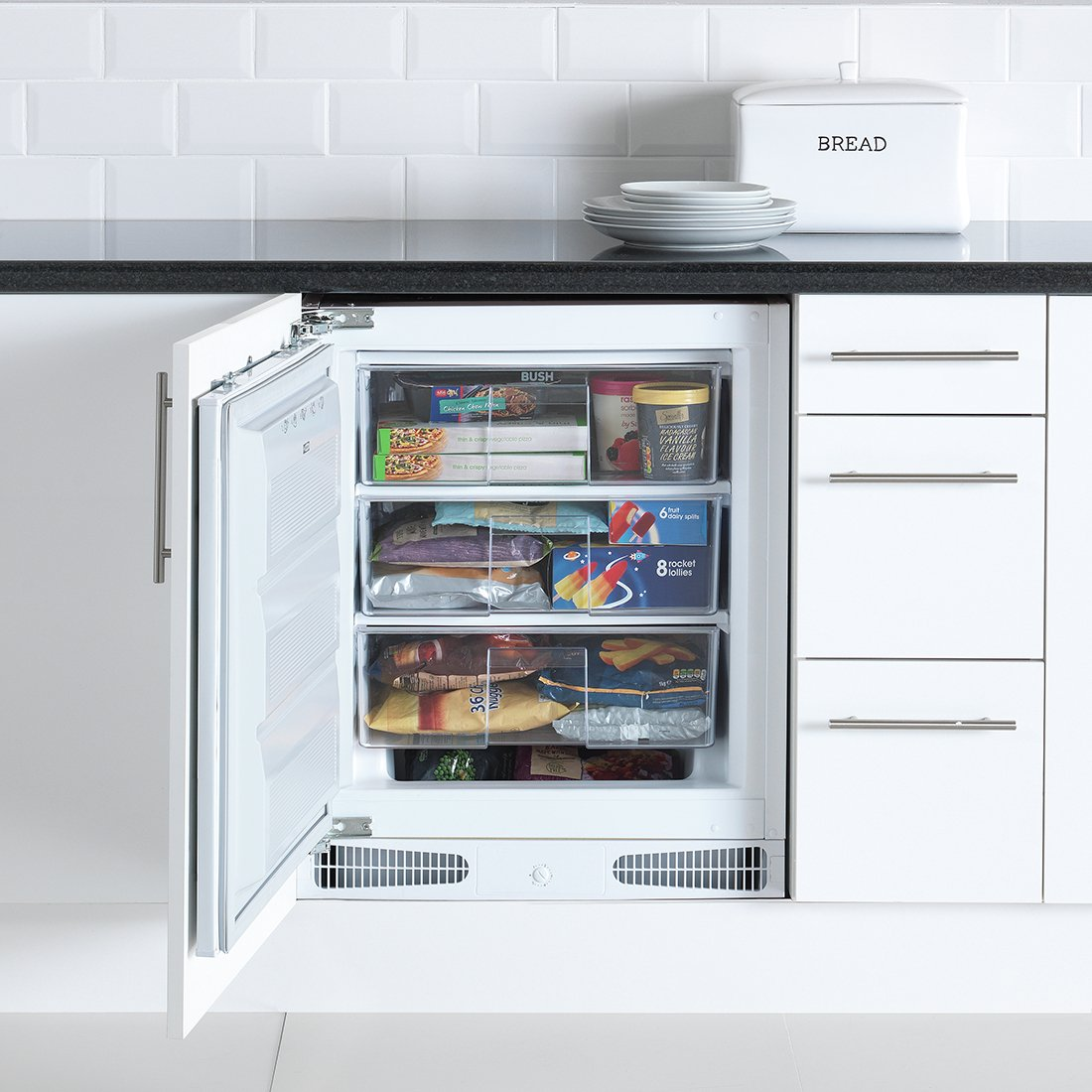 Image of Bush BUCF6082 Under Counter Integrated Freezer - White
