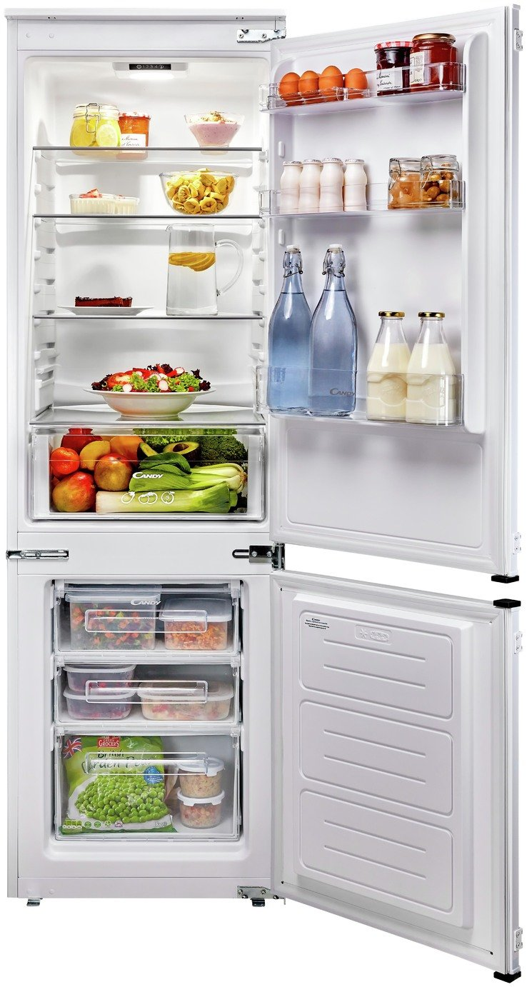 Candy CKBBS 100 UK Integrated 70/30 Fridge Freezer - White