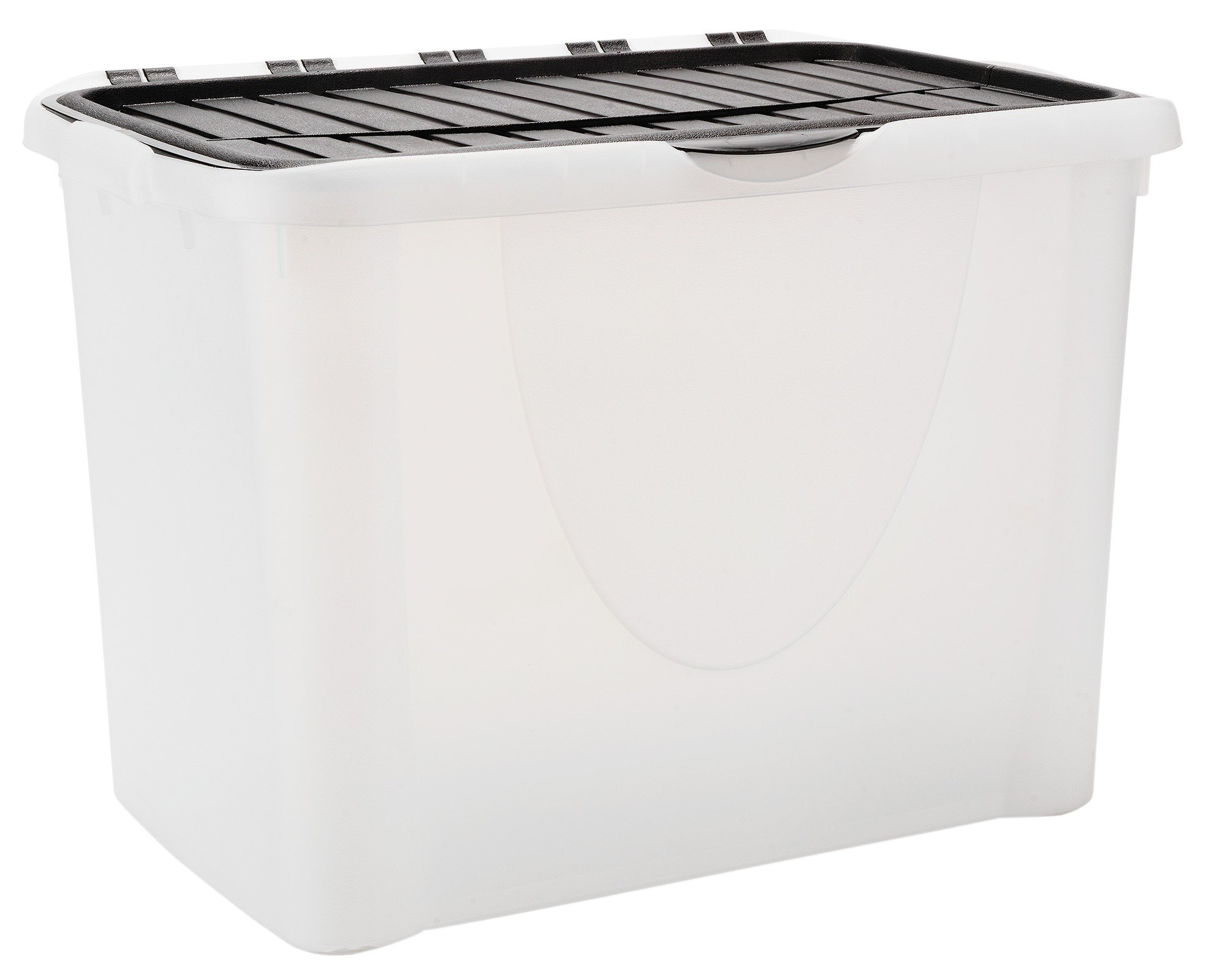 Tontarelli 70 Litre Plastic Storage Box with Flip Lid