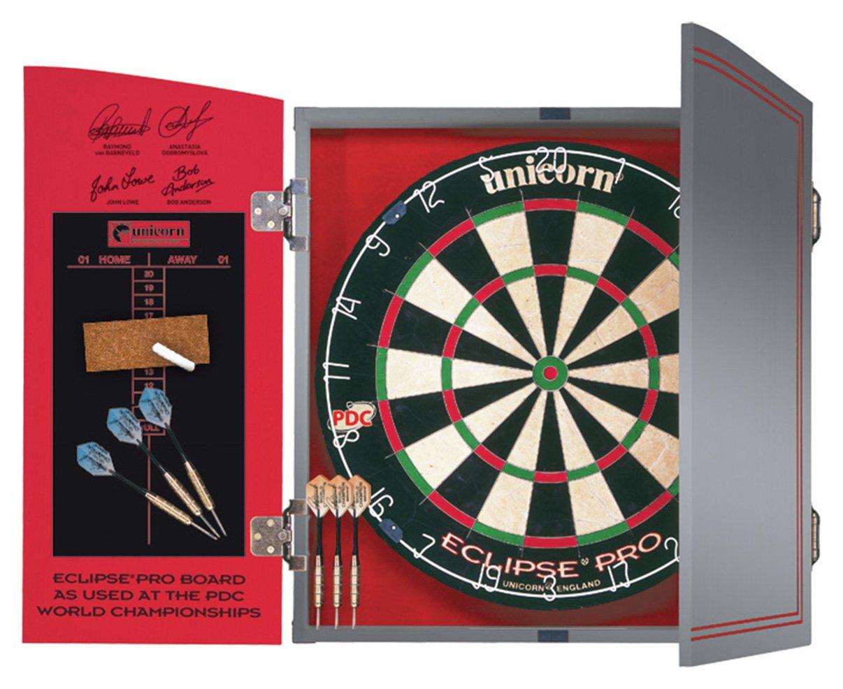 Unicorn World Championship Dartboard, Cabinet & 2 Darts Sets