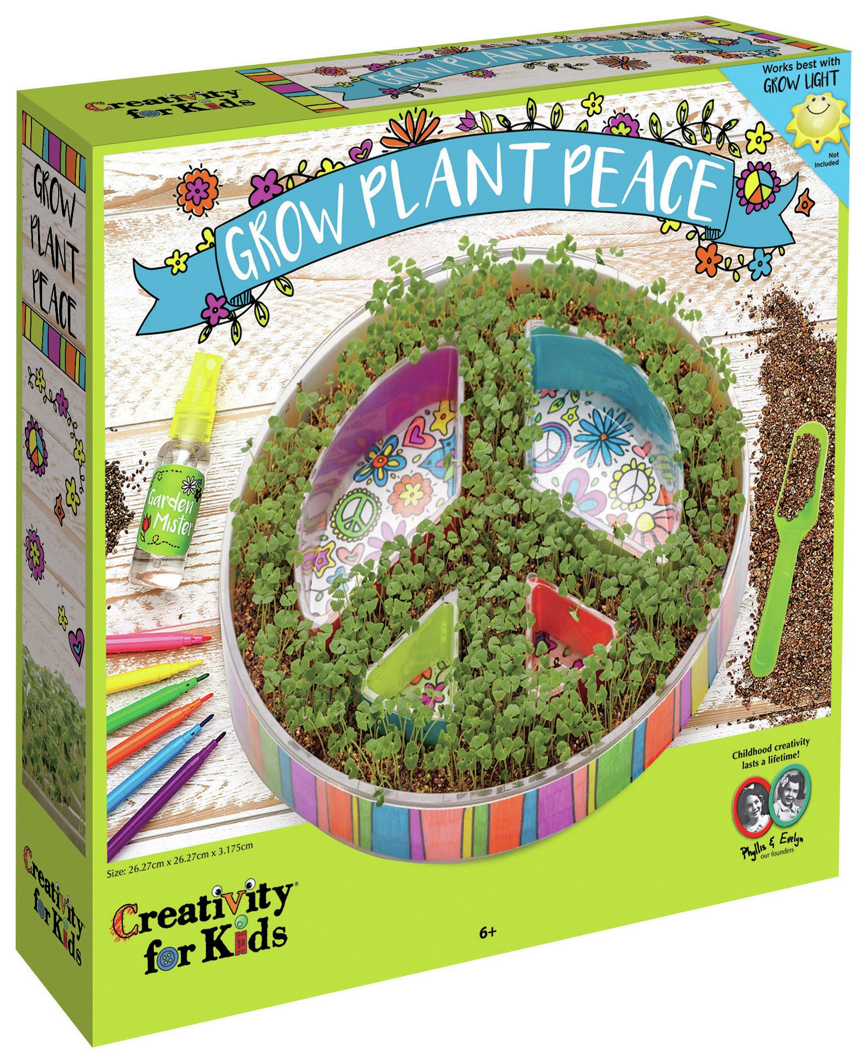 Image of Creativity for Kids GROW Plant a Peace Garden Set.