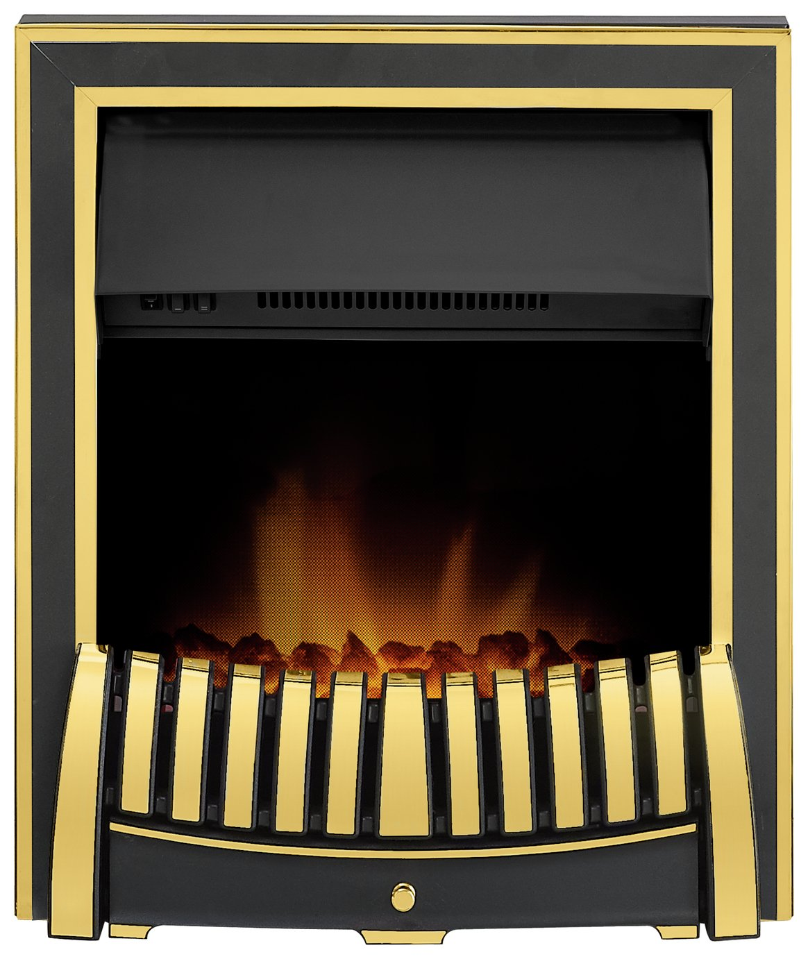 Adam Elan 2kW Electric Inset Fire - Brass