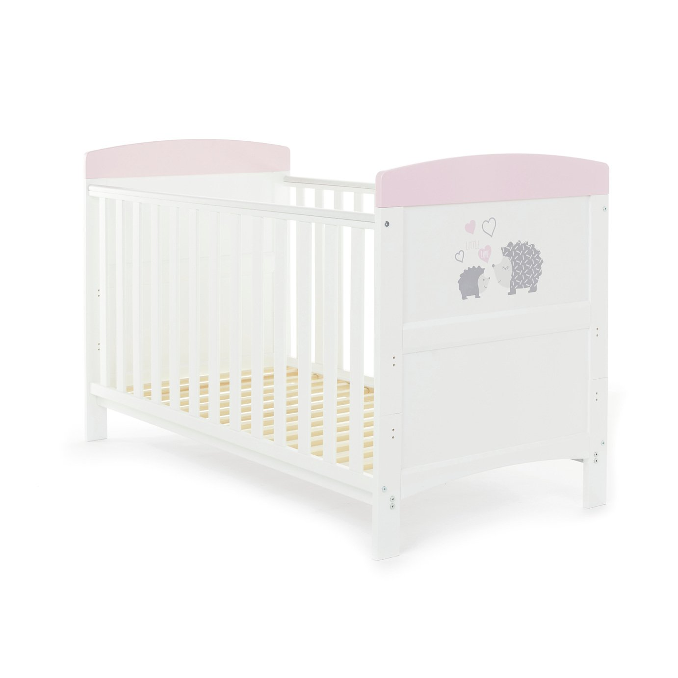 obaby hedgehog cot bed pink argos exclusive mattress. Black Bedroom Furniture Sets. Home Design Ideas