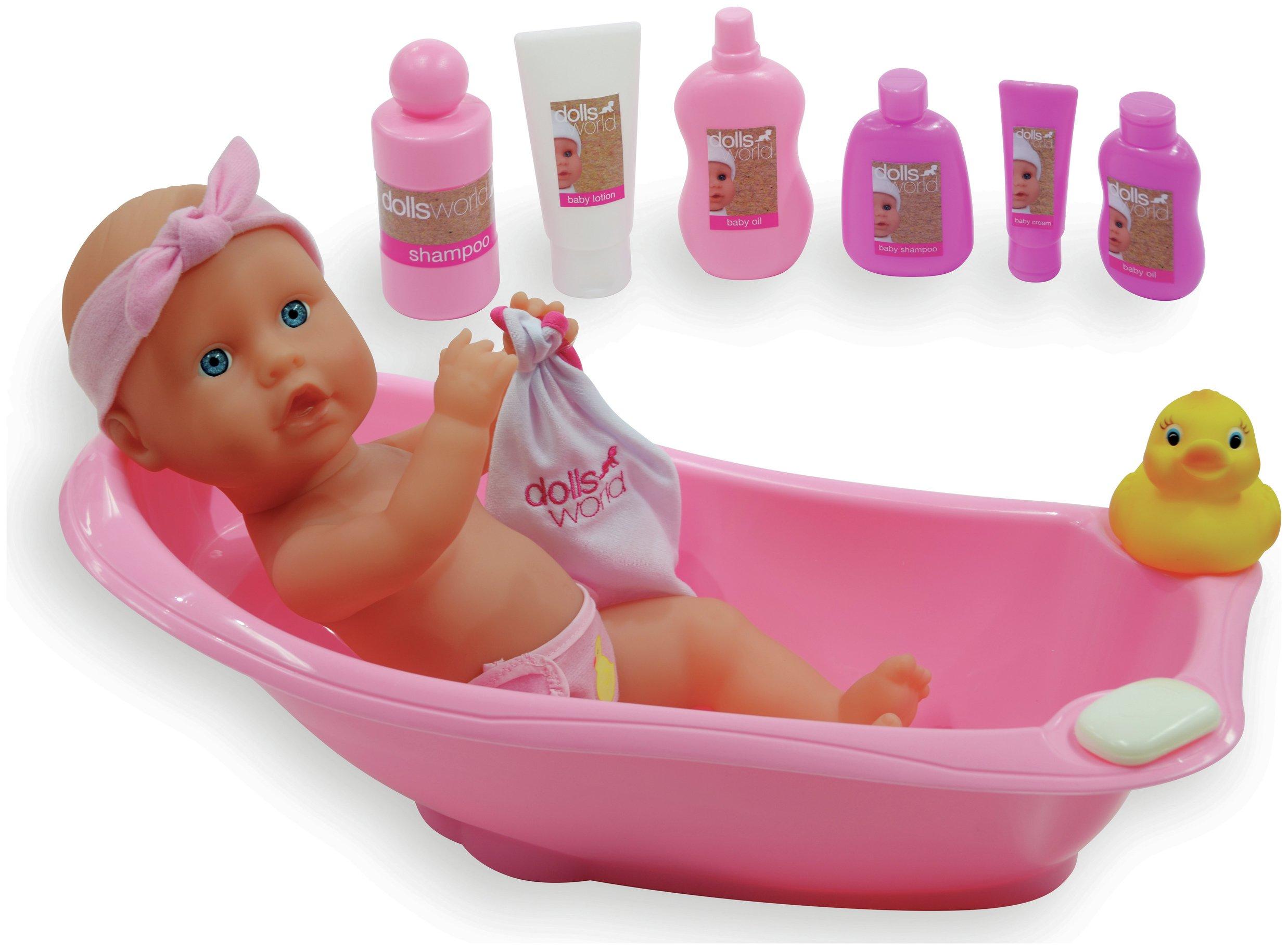 Image of Dollsworld Doll and Bath Playset.