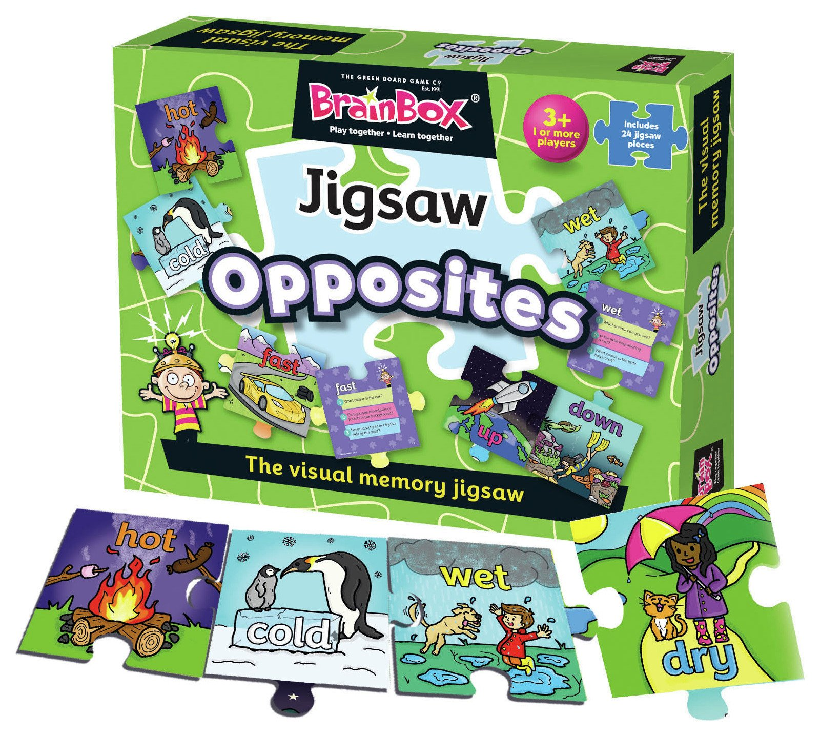Image of Brainbox Opposites Jigsaw and Game.