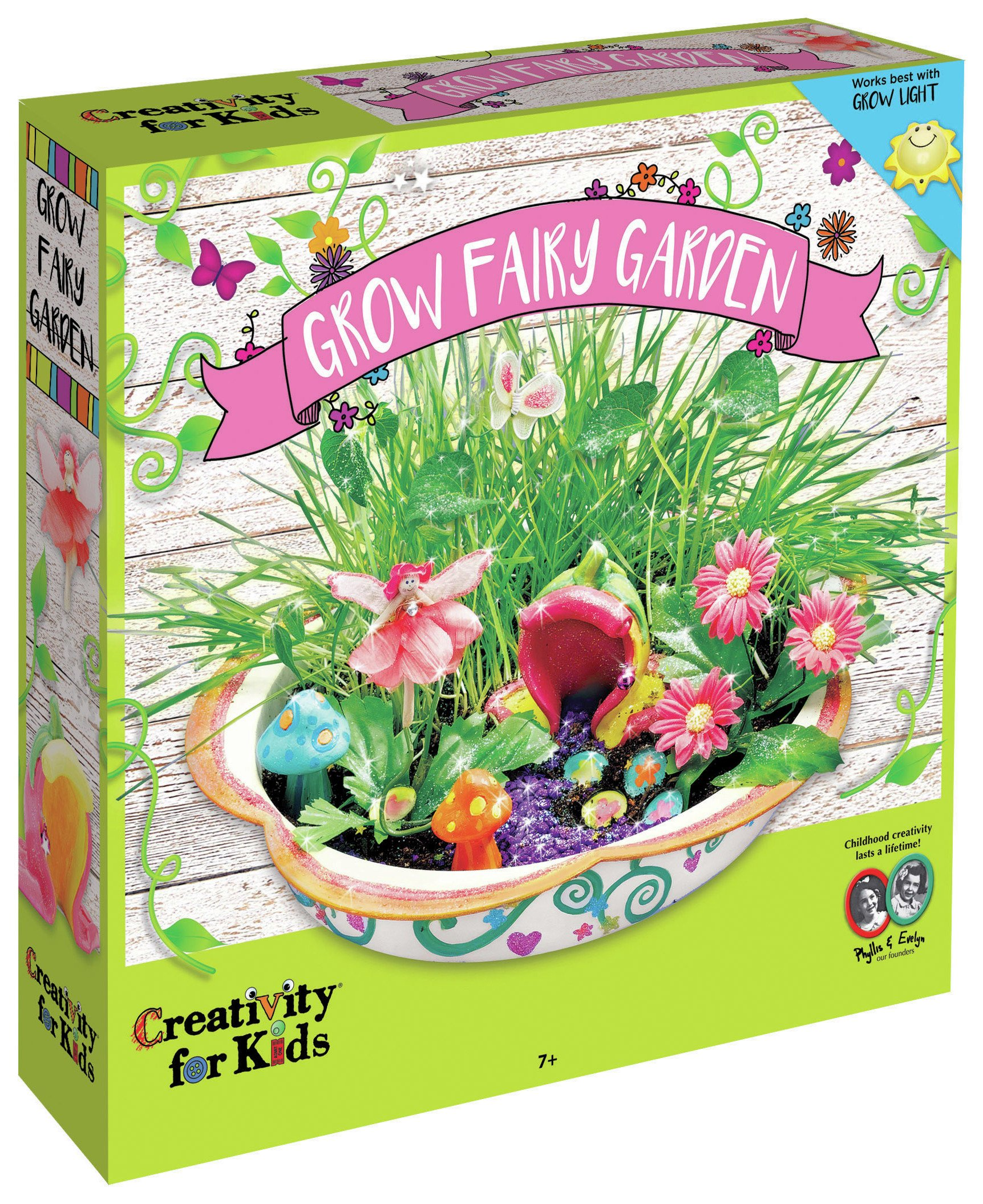 Image of Creativity for Kids GROW Enchanted Fairy Garden Set.