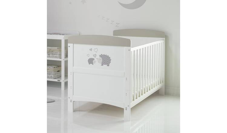 Obaby Hedgehog Cot Bed with Mattress - Grey