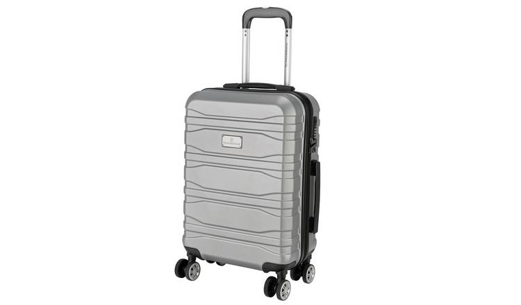 Featherstone 8 Wheel Hard Cabin-Size Suitcase - Silver