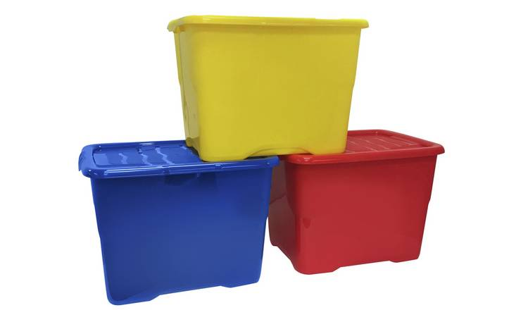 Strata 24 Litre Boxes with Lids - Set of 3