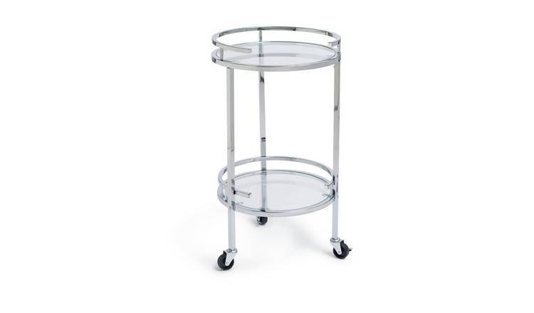 Habitat Chrome and Glass Drinks Trolley