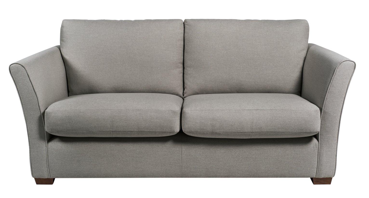 Argos Home Dawson 3 Seater Fabric Sofa - Grey