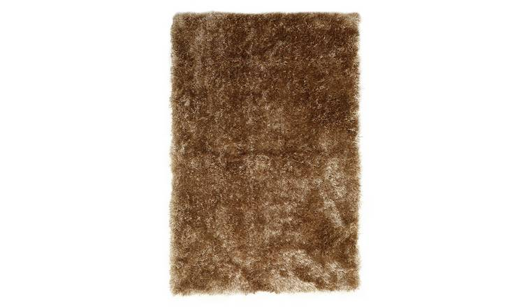 Habitat Luxury Long Pile Rug - 160x230cm - Gold