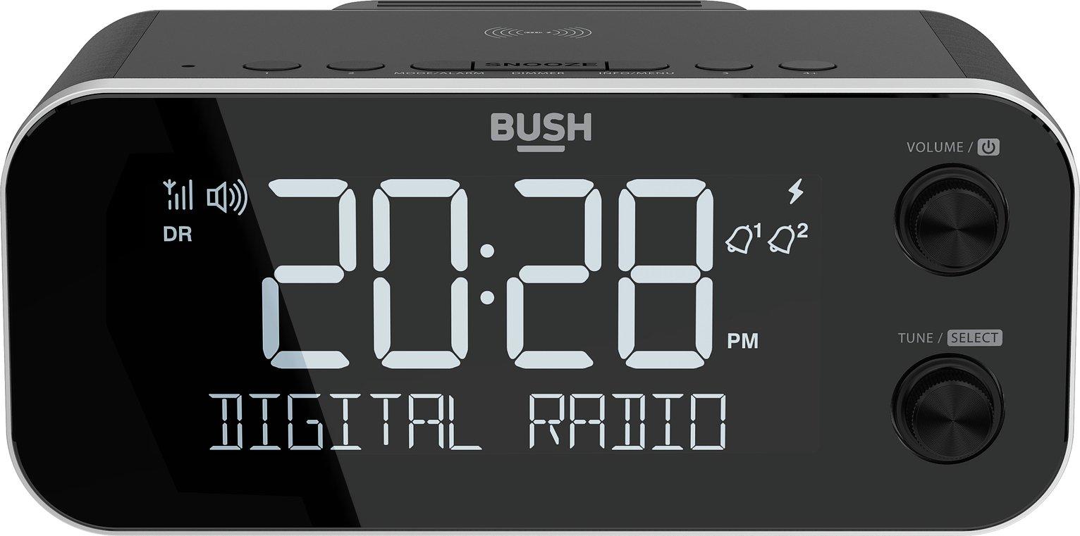 Bush DAB+ Clock Radio with Wireless Charging Dock