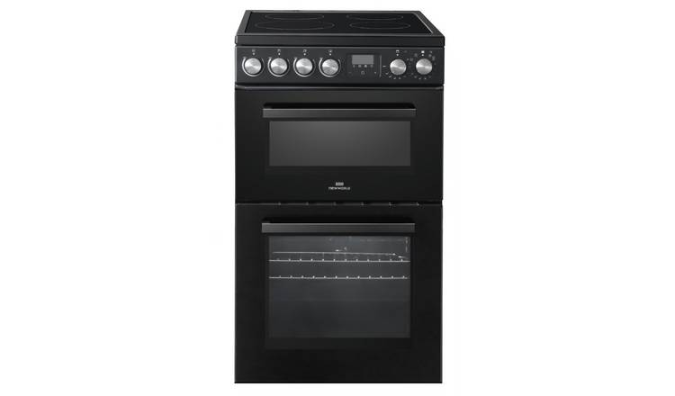 New World NWLS50TEB 50cm Twin Cavity Electric Cooker - Black