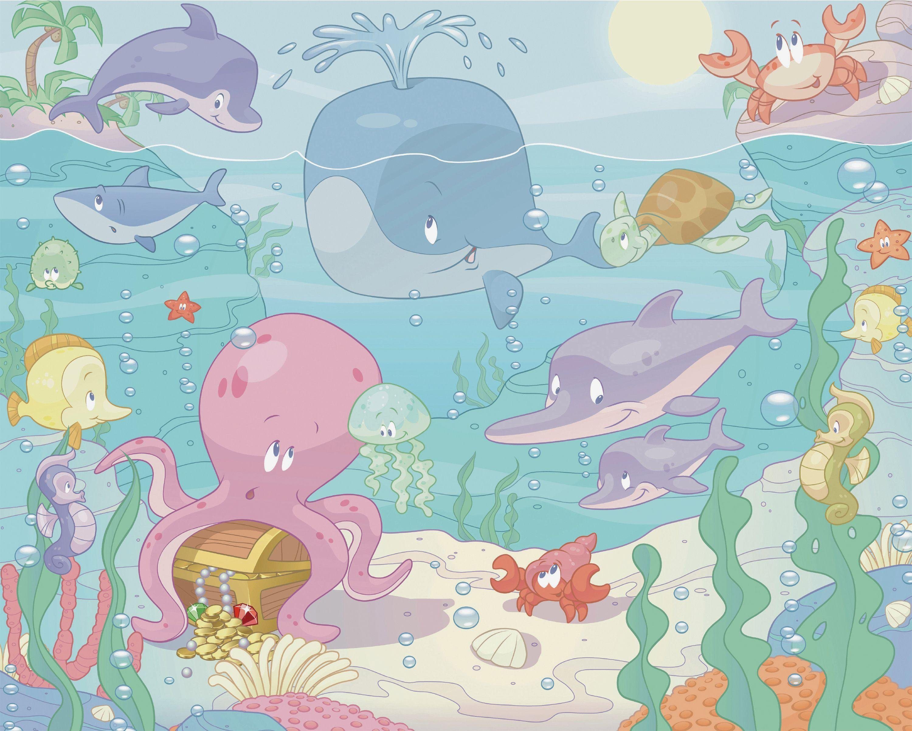 Buy Walltastic Baby Under The Sea Wall Mural At Argos.co.uk   Your Online  Shop For Murals And Wall Stickers, Wallpaper, Painting And Decorating, ...