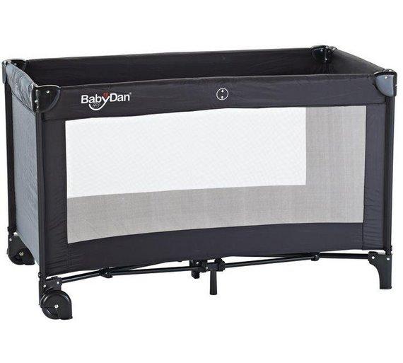 buy babydan travel cot black at your. Black Bedroom Furniture Sets. Home Design Ideas