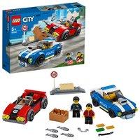 LEGO City Police Highway Arrest Cars Toy Set - 60242
