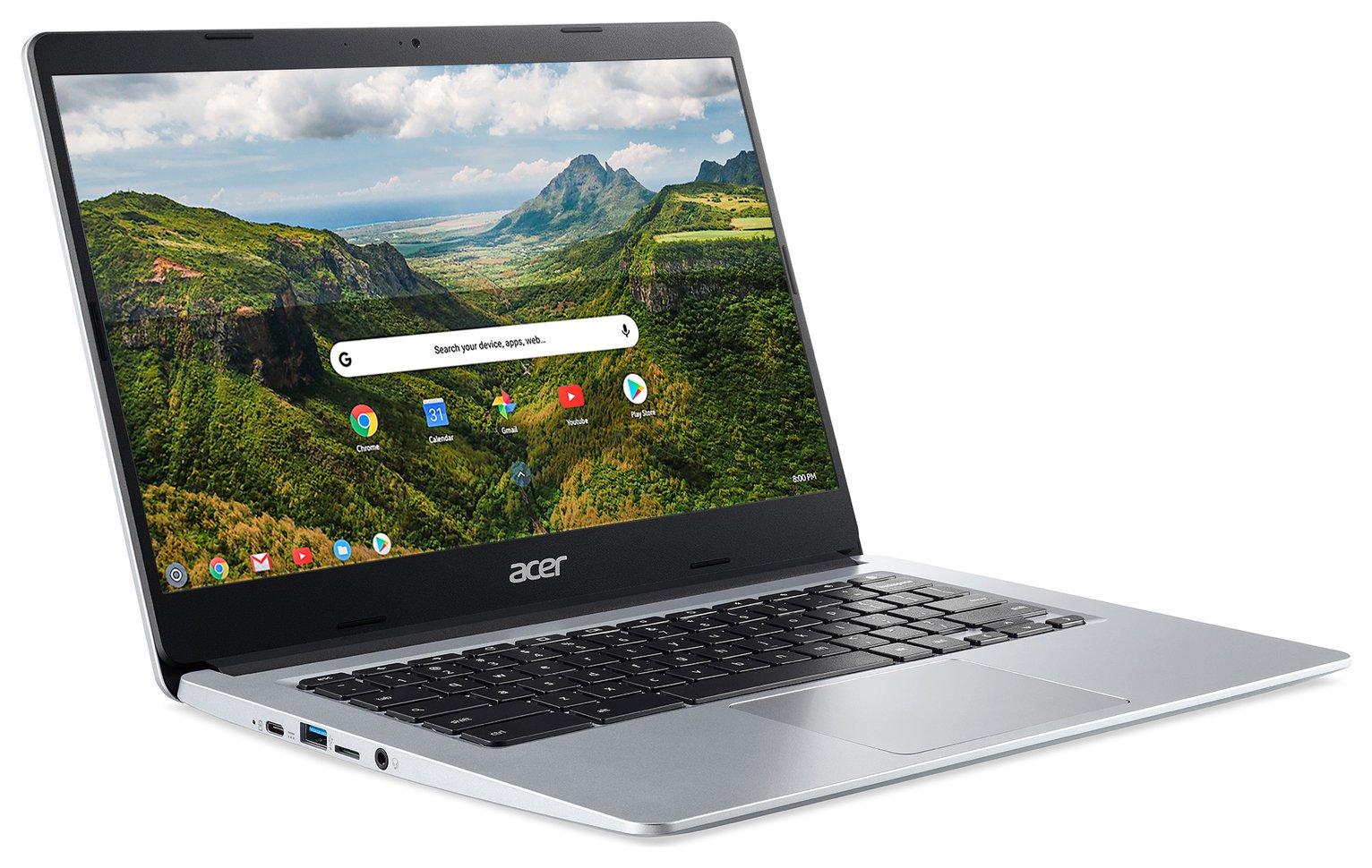Acer 314 14in Celeron 4GB 32GB Chromebook - Pure Silver