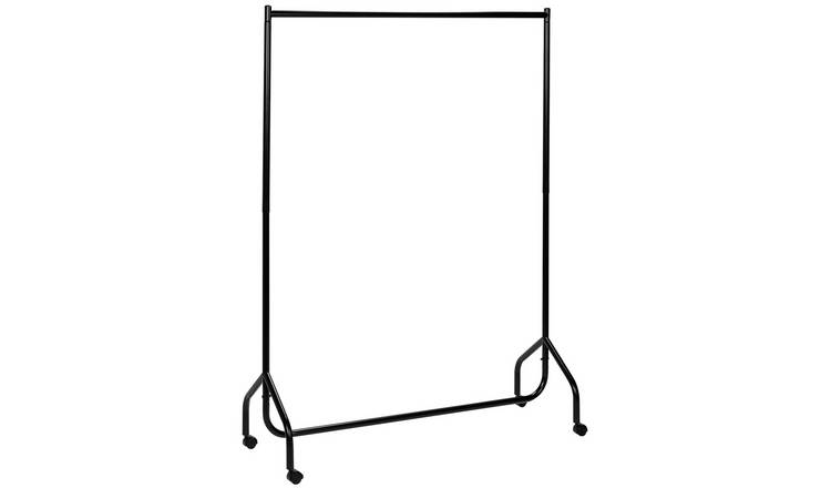 Argos Home Single Heavy Duty 4ft Wide Clothes Rail - Black