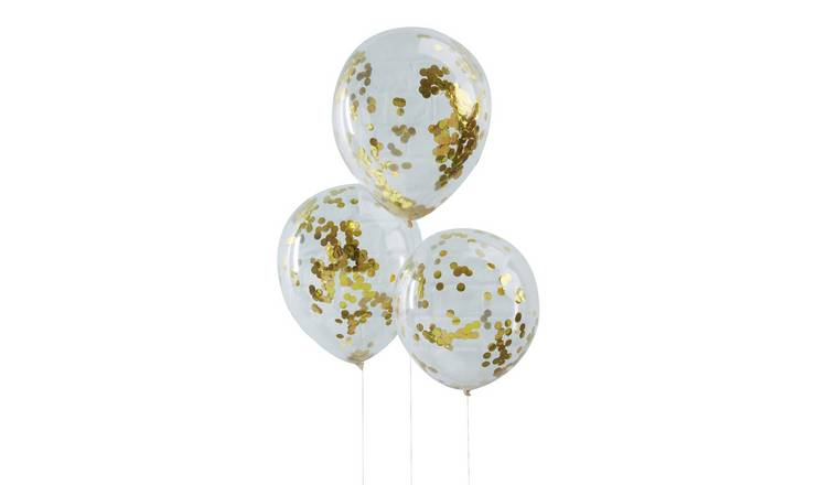 Ginger Ray Gold Confetti Balloons