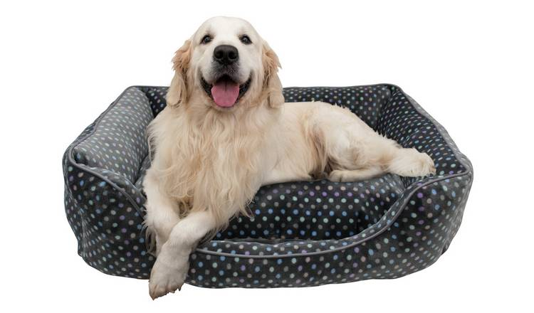 Spotty Square Pet Bed - Large
