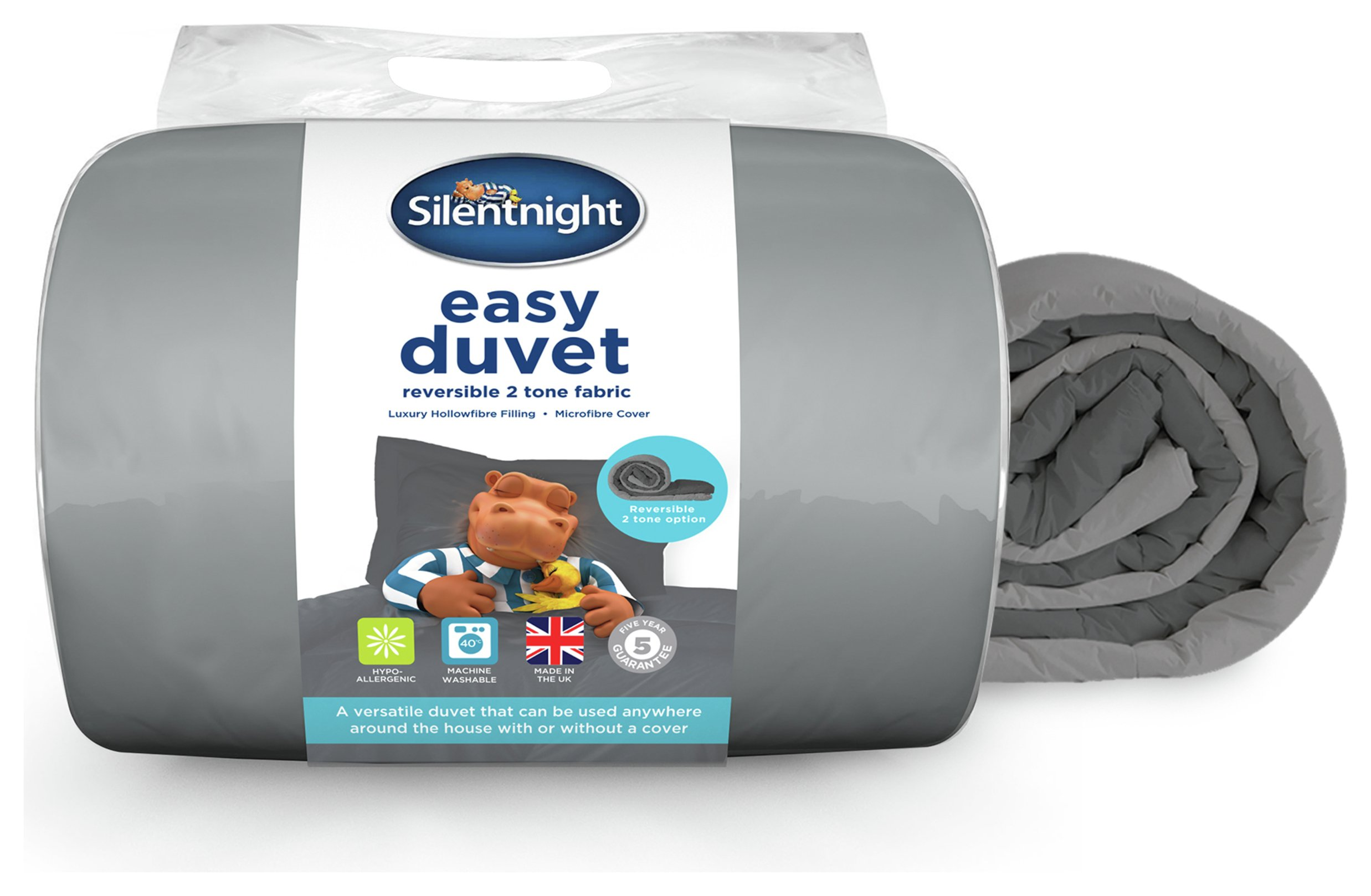 silentnight easy plain dye 10.5 tog duvet  double