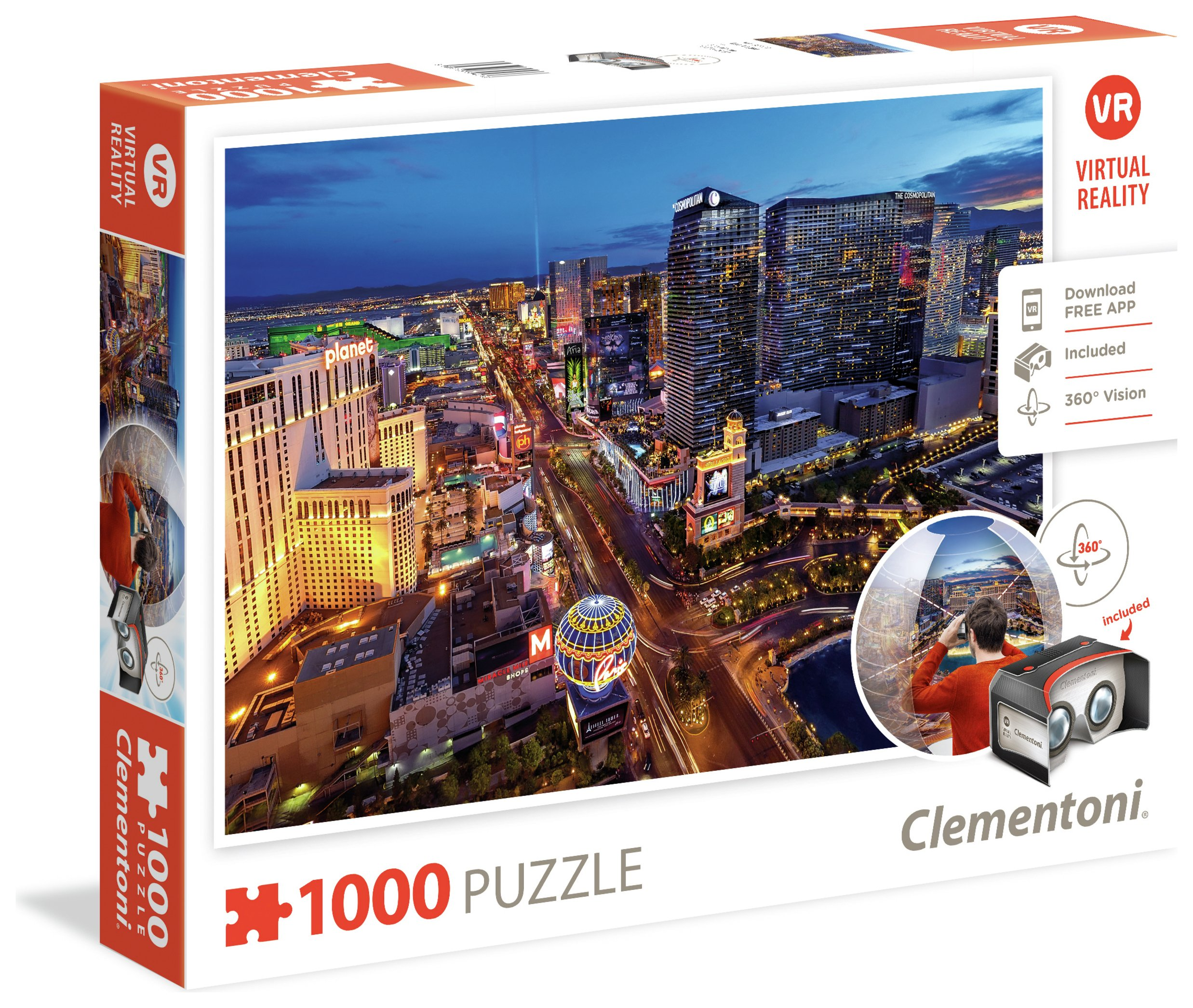 Image of Clementoni Virtual Reality 1000 Puzzle - Las Vegas