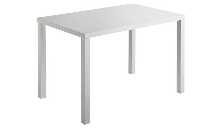 007c4394f4 Buy Argos Home Lyssa 4 Seater Dining Table - White Gloss | Dining ...