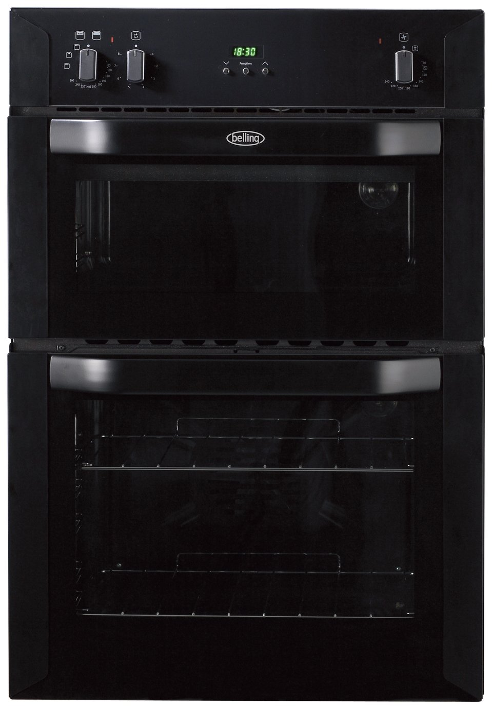 Image of Belling BI90FP Electric Built-In Double Oven - Black
