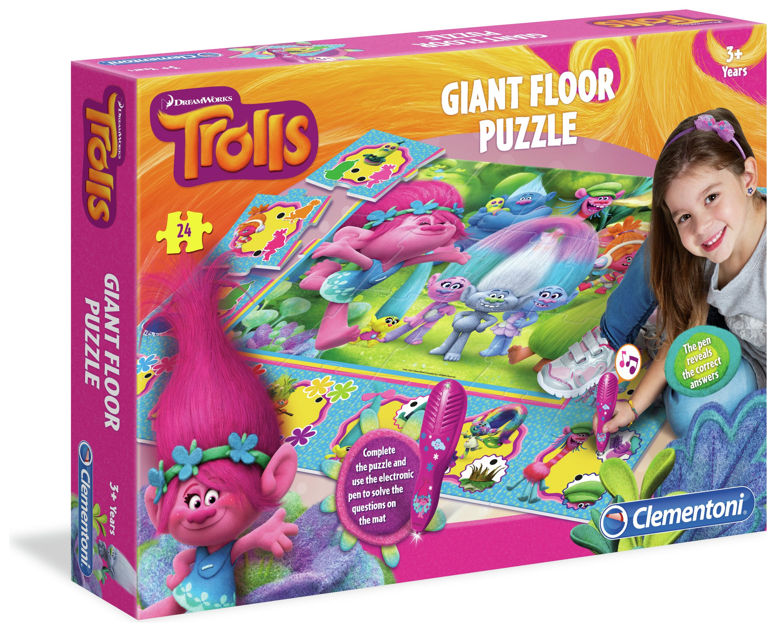 Image of Clementoni Dreamworks Trolls Giant Floor Puzzle