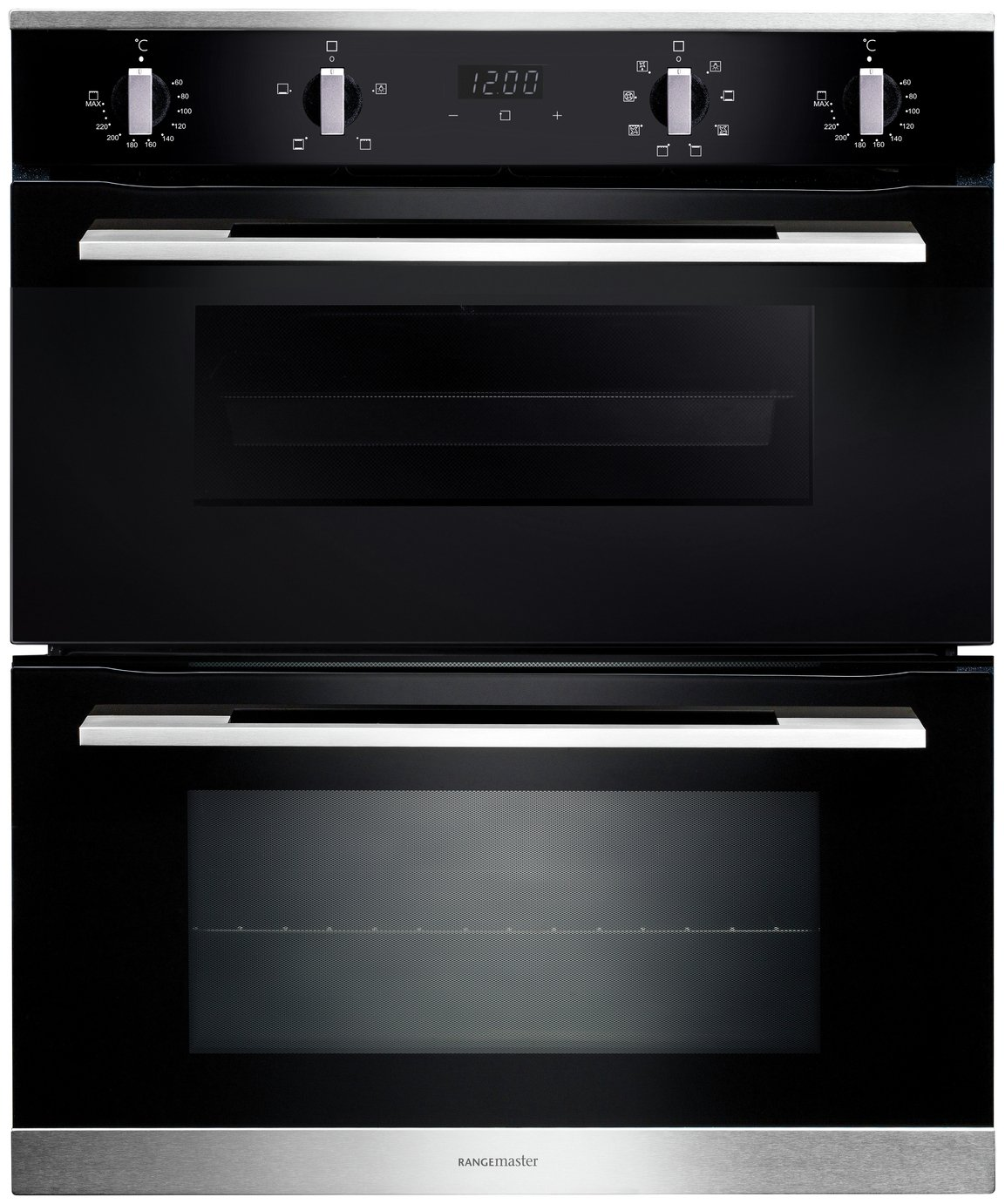Rangemaster RMB7248BL/SS Built Under Double Electric  Oven
