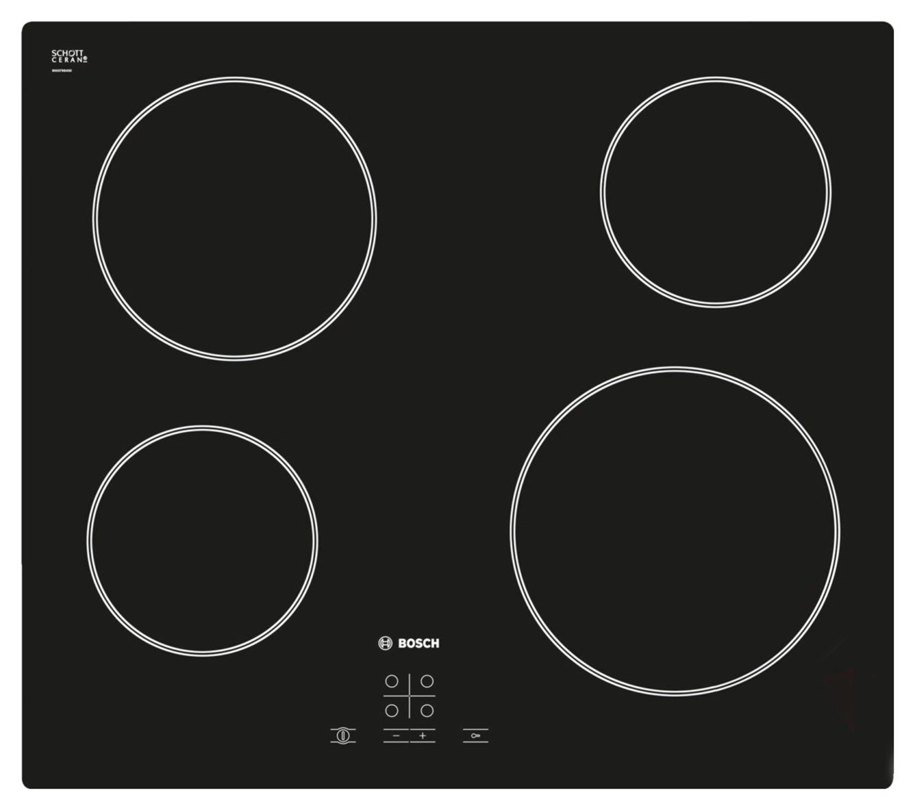 Bosch PKE611D17E Electric Ceramic Hob - Black