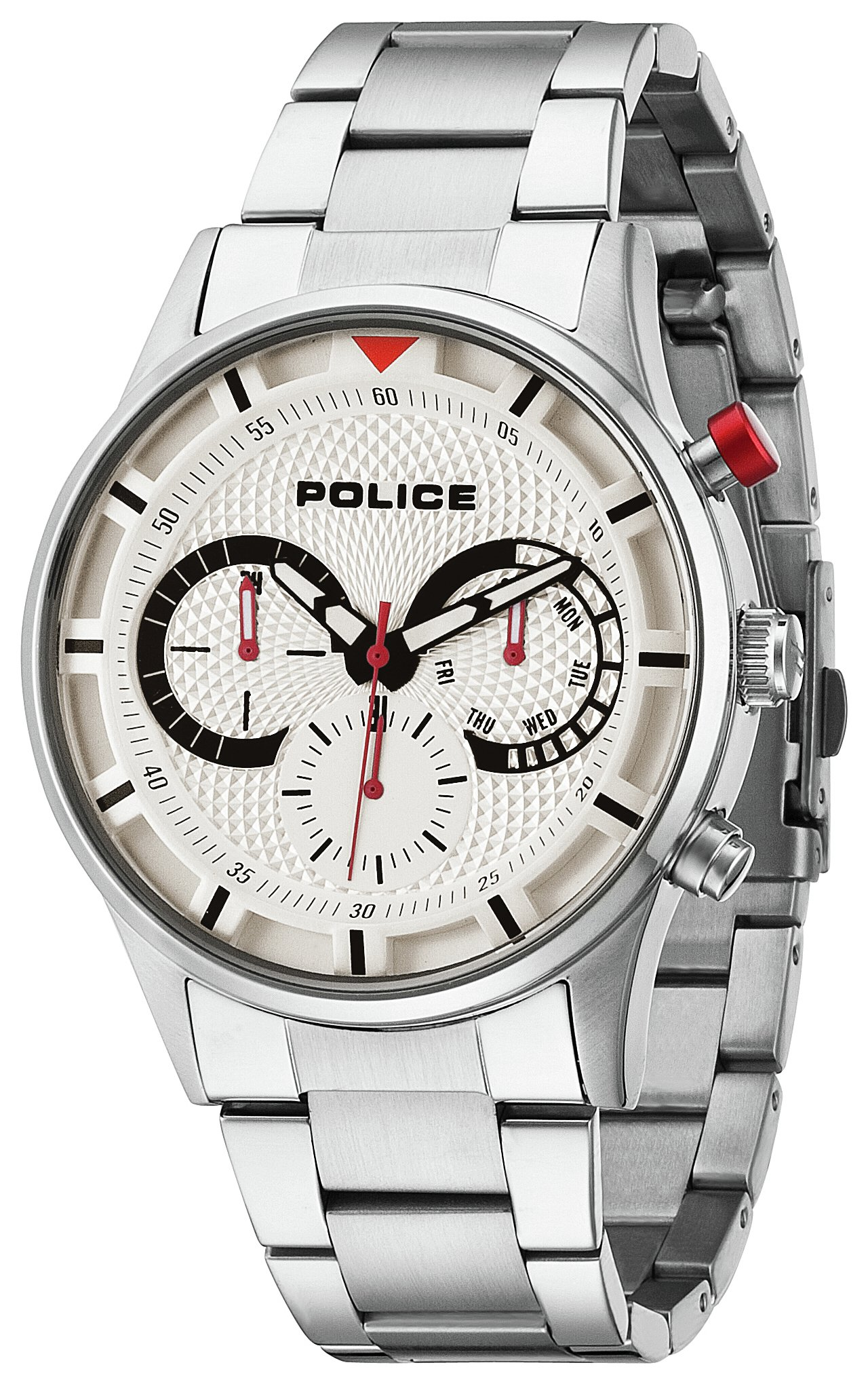 Police Men`s Stainless Steel Driver Bracelet Watch