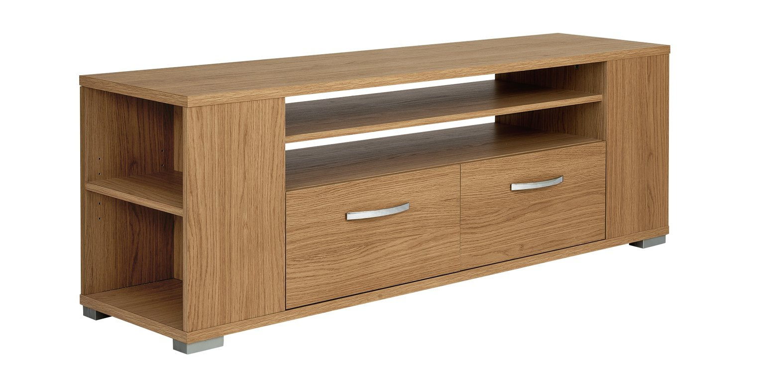 HOME Renzo 2 Drawer TV Unit with Side Storage