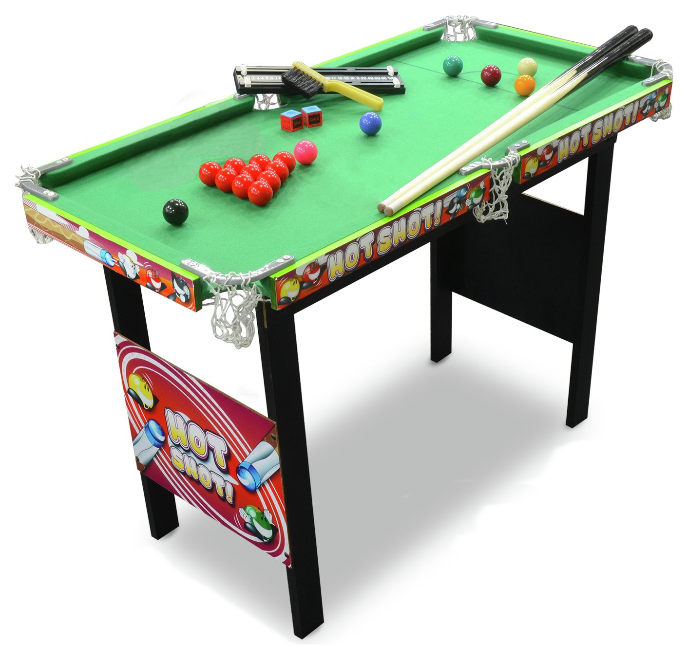 Chad valley 3ft snooker pool game table gay times for Epl table 99 00