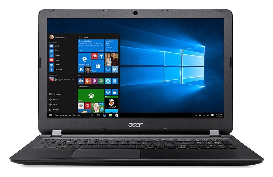 Image of Acer Aspire ES 15.6 Inch AMD E1 4GB 1TB Laptop - Black
