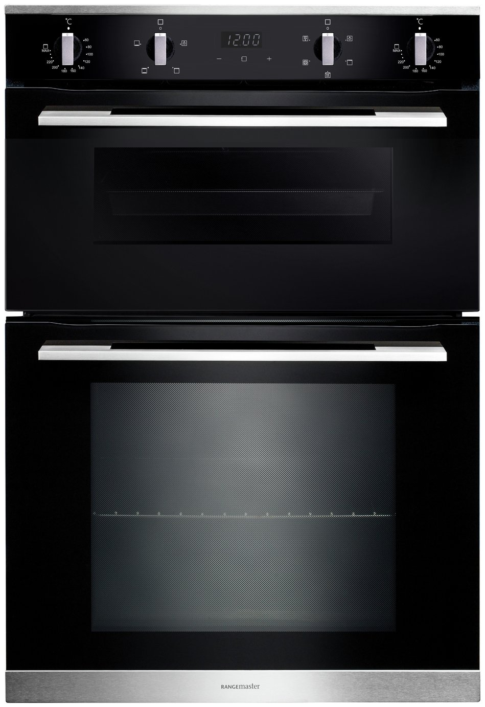 Click here for Rangemaster RMB9045BL/SS (11219) 90cm Built-In 4/5 Functions Double oven prices