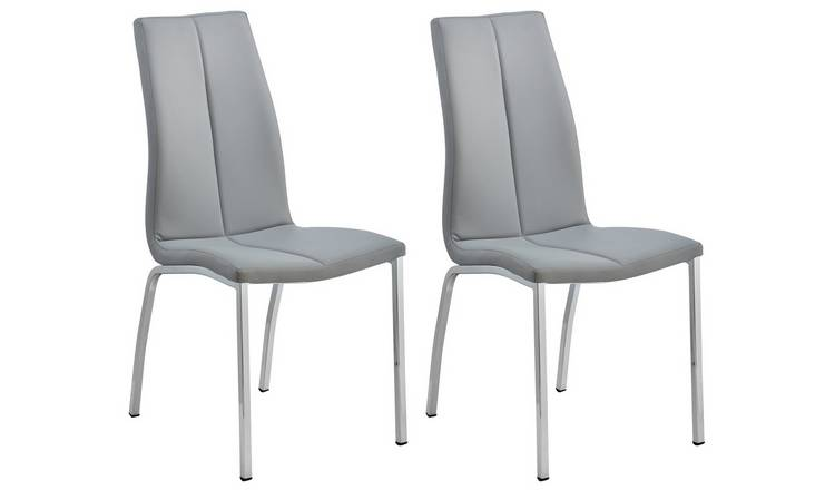 buy online 80879 258dd Buy Argos Home Milo Pair of Curve Back Chairs - Grey | Dining chairs | Argos