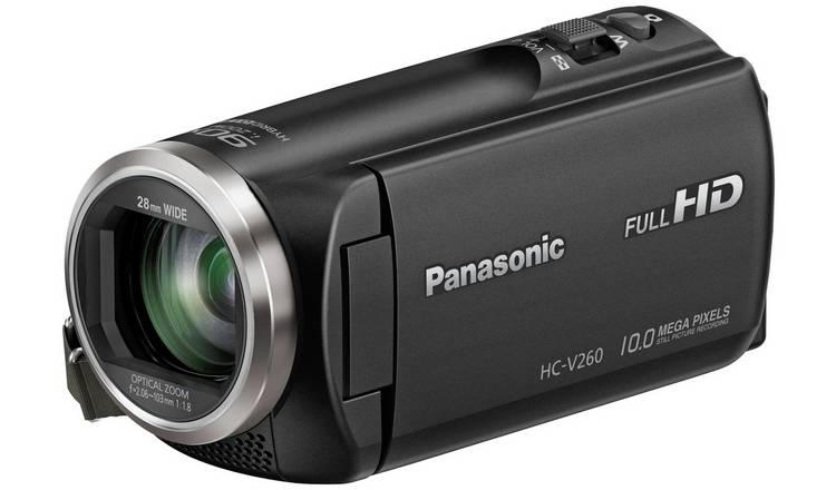 Panasonic Lumix V260 Full HD Camcorder - Black