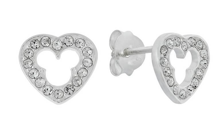 787255d54 Buy Disney Micky Sterling Silver Cubic Zirconia Stud Earrings | Kids ...