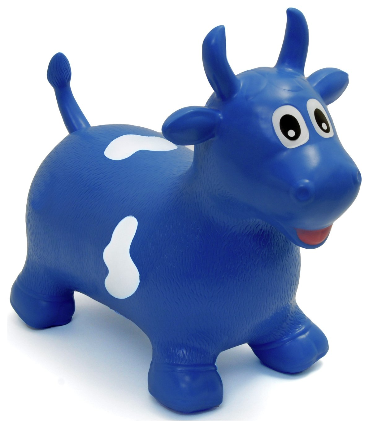 Image of HappyHopperz Inflatable Bouncer Bull - Blue.