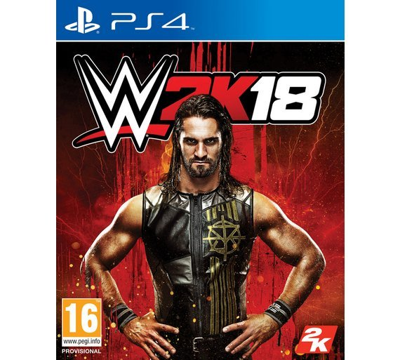 Image of WWE 2K18 PS4 Game.